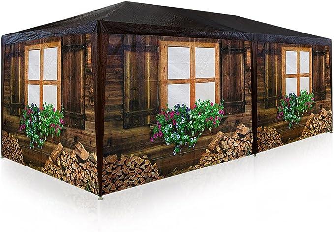 Deuba Carpa de jardín para fiestas 6x3m pabellón para camping fiesta oktoberfest enrollable con 6 paredes laterales: Amazon.es: Jardín