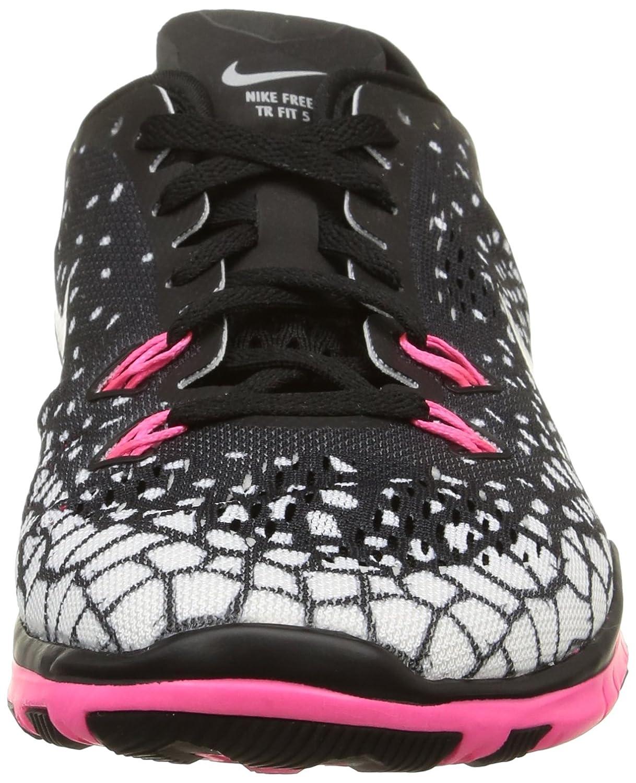 newest 9891d b6be5 Zapatillas de entrenamiento Nike Women s Free 5.0 TR Fit 5 Negro   Rosa    Blanco   Plata Metálica