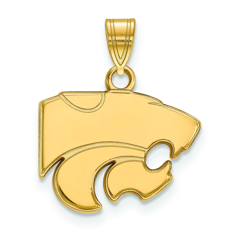 Kansas State Small (1 / 2インチ) ペンダント(10 Kイエローゴールド)   B01IYEUWJM