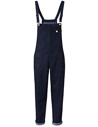 357f6308f Yeokou Women's Casual Denim Cropped Harem Overalls Pant Jeans Jumpsuits  (X-Small, Black
