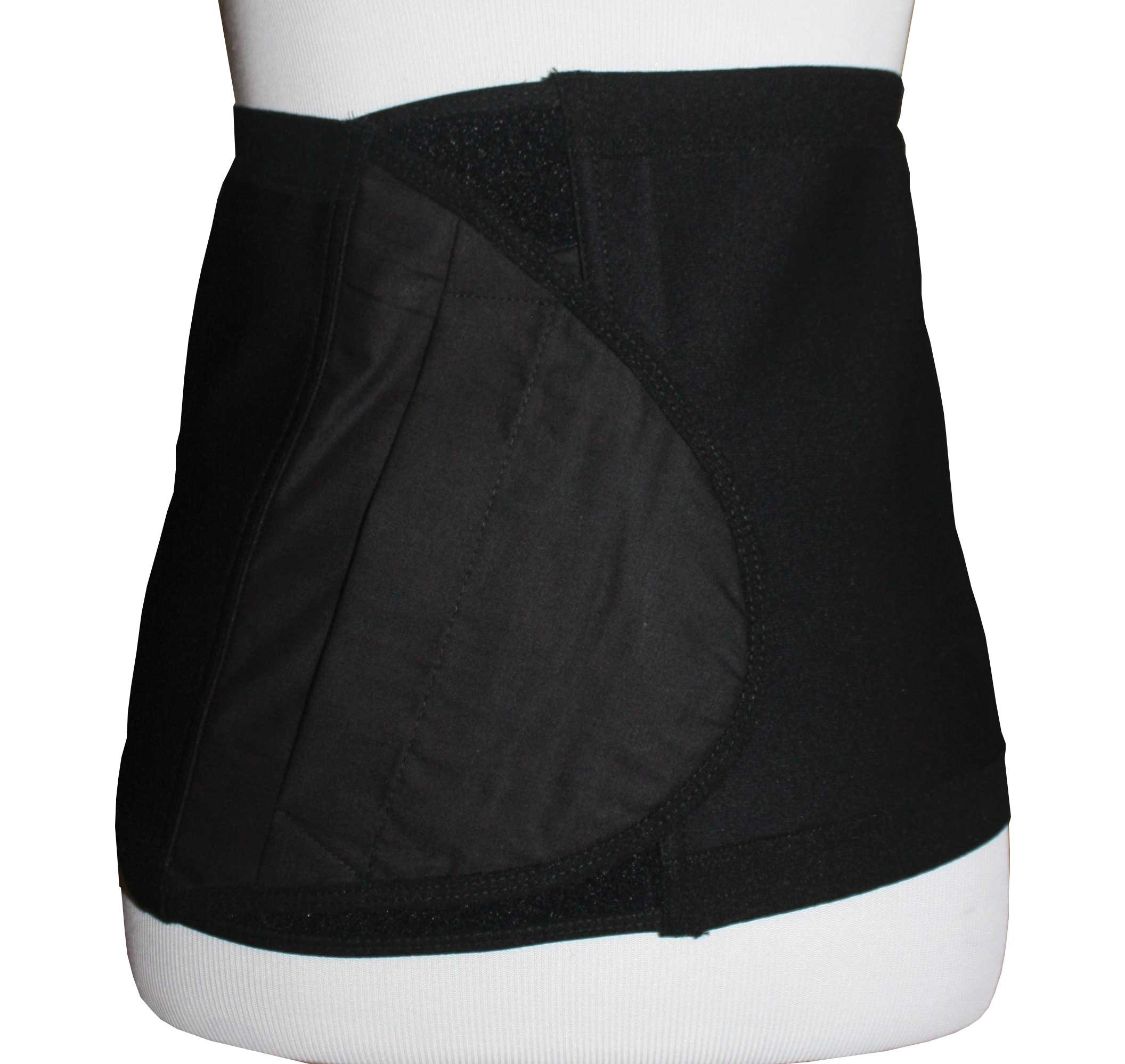 Safe n' Simple Hernia Support Belt, 26cm, Black, X-Small