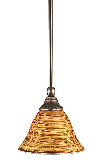 Amazon.com: Toltec iluminación 23-bc-451 Stem mini-pendant ...