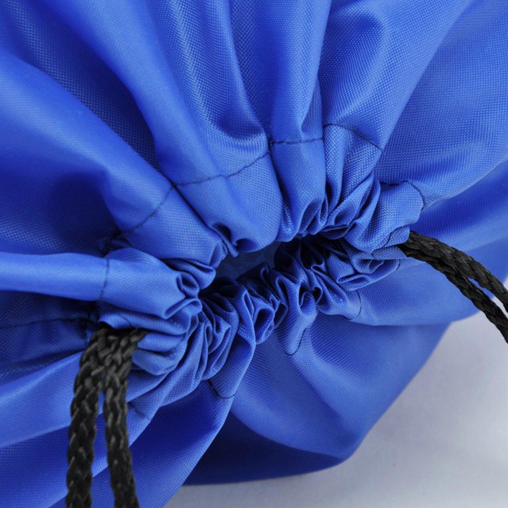 BINGONE Drawstring Bag Folding Backpack Storage Black by BINGONE (Image #6)