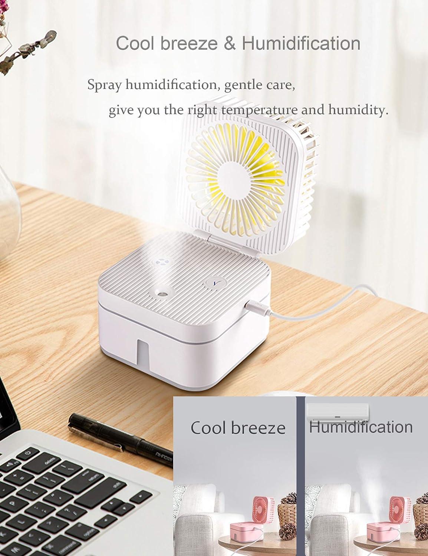 Mini Portable Desk Fan Water Spray Fan Handheld Misting Fan ChampSun Mini Misting Fan Personal Cooling Fan for Outdoor White Battery Operated Fan Fine Mist Sprayer