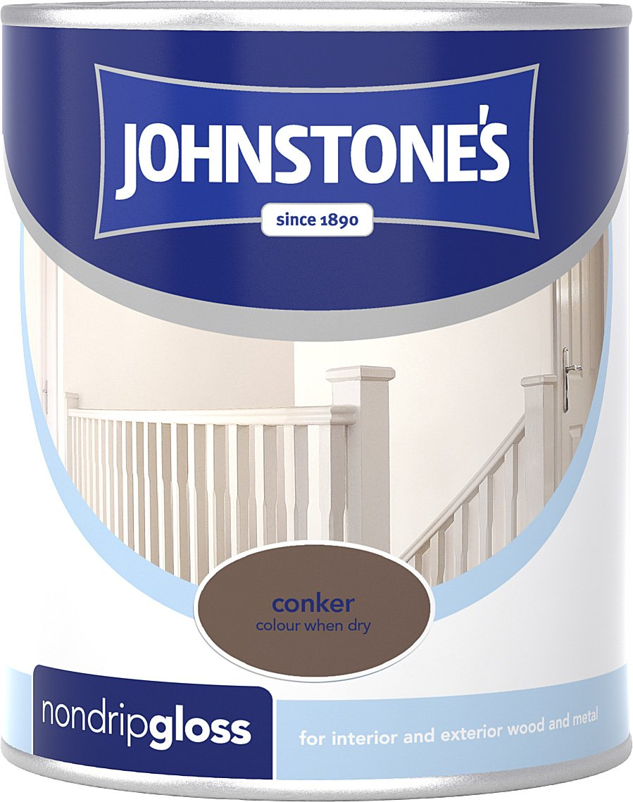 Johnstone's 306532 250ml Non Drip Gloss Paint - Brilliant White PPG Architectural Coatings UK & Ireland