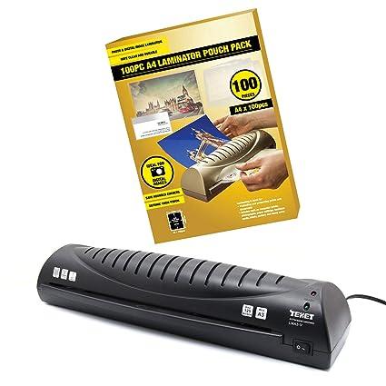 Texet A3 - Plastificadora personal para casa y oficina (100 ...