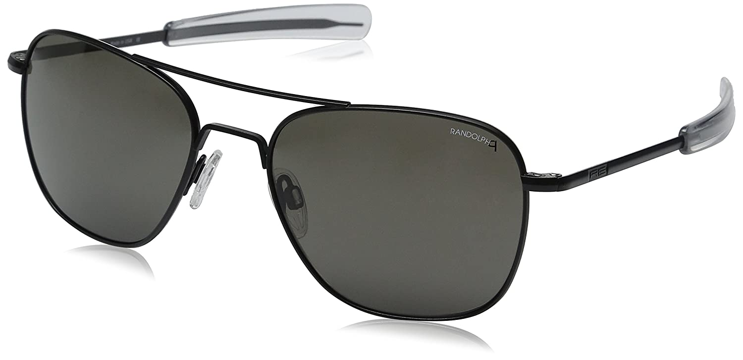 a511e921d04b6 Randolph Engineering Aviator Matte Black Sunglasses - Gray Polarized  Bayonet 58MM  Amazon.co.uk  Clothing