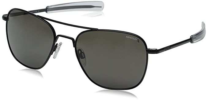 581a34e5b5f Randolph Engineering Aviator Matte Black Sunglasses - Gray Polarized  Bayonet 58MM  Amazon.co.uk  Clothing