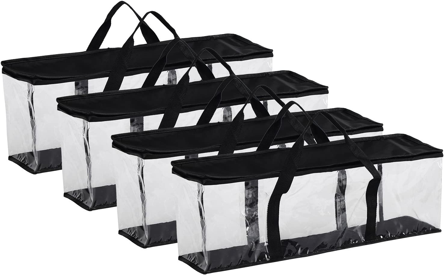 Fasmov Set of 4 DVD Storage Bags Hold up to 160 DVDs (40 Each Bag)