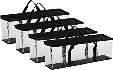Fasmov Set Of 4 DVD Storage Bags Hold Up To 160 Dvds (40 Each Bag