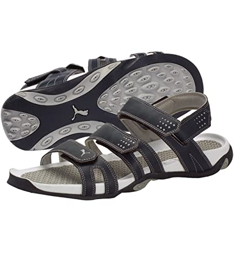 e1be717d58c6c0 Puma Men s Insignia Blue and Light Grey Sandals and Floaters - 9 UK India (