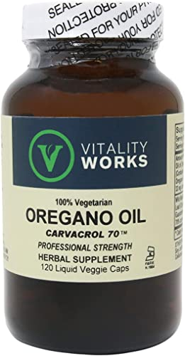 Vitality Works, Oregano Oil, 120 Veg Capsules