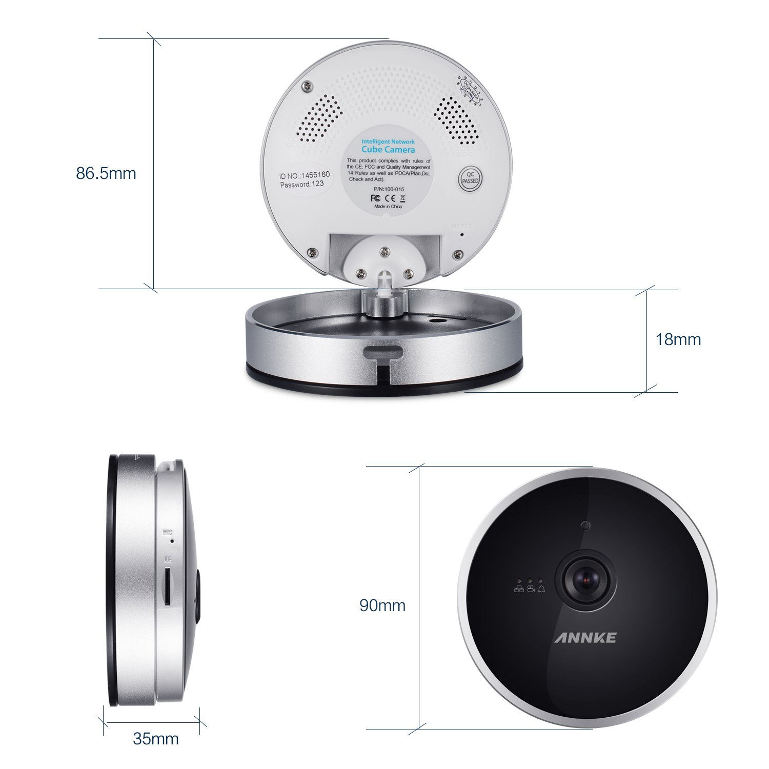 Annke Hd 720p Wireless Wi Fi Ip Camera Cloud Network Home Diagram Ids With Two Way Audio Motion Detection Qr Code Scan Wide Angle Lens Night Vision