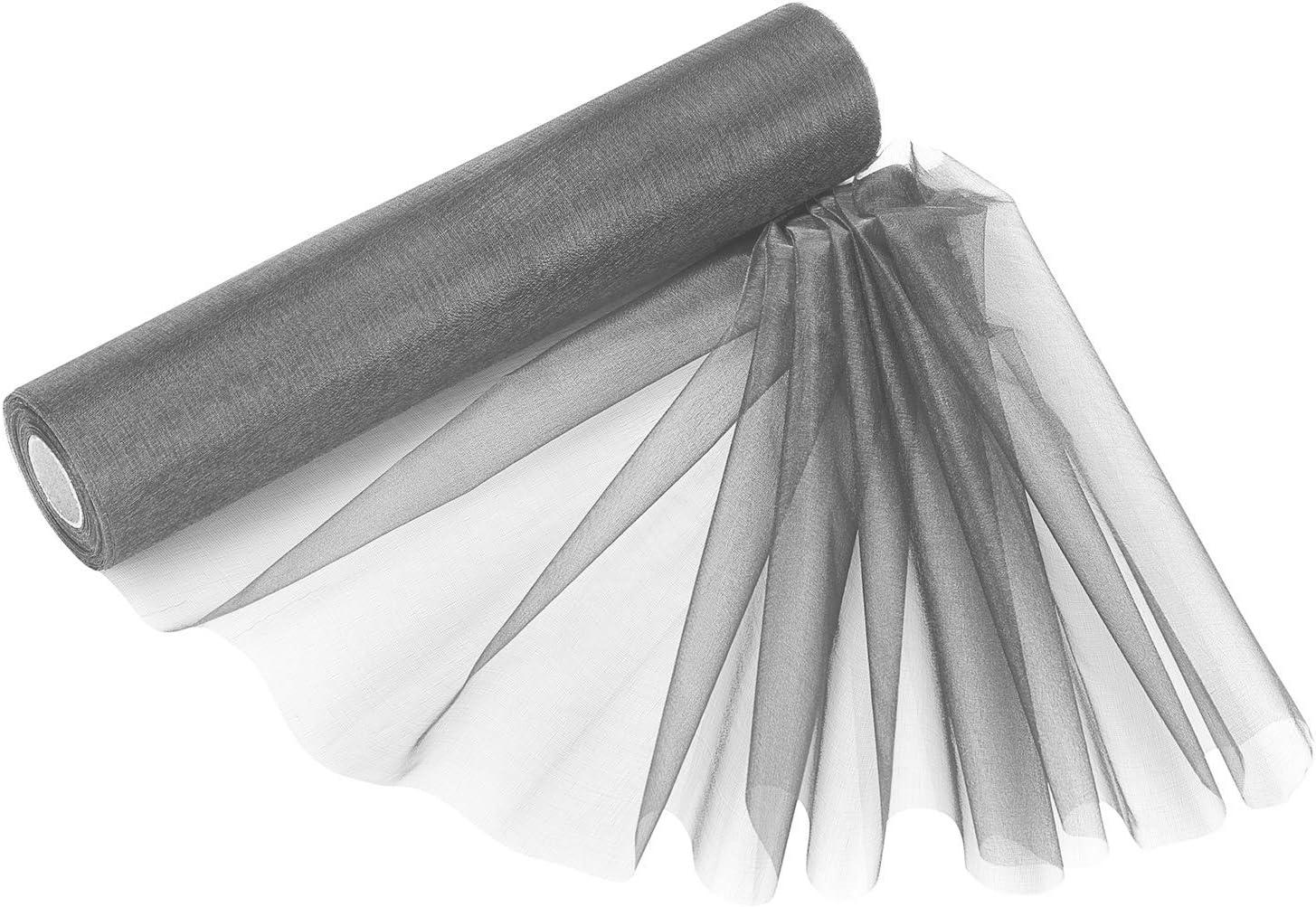 pacchi Regalo Decorazione per Festa Bianco Lavender Weddecor 25/m x 29/cm Snow Rotoli di Organza con Glitter Tessuto per Pacchetto Regalo Scrapbook Arti e Mestieri