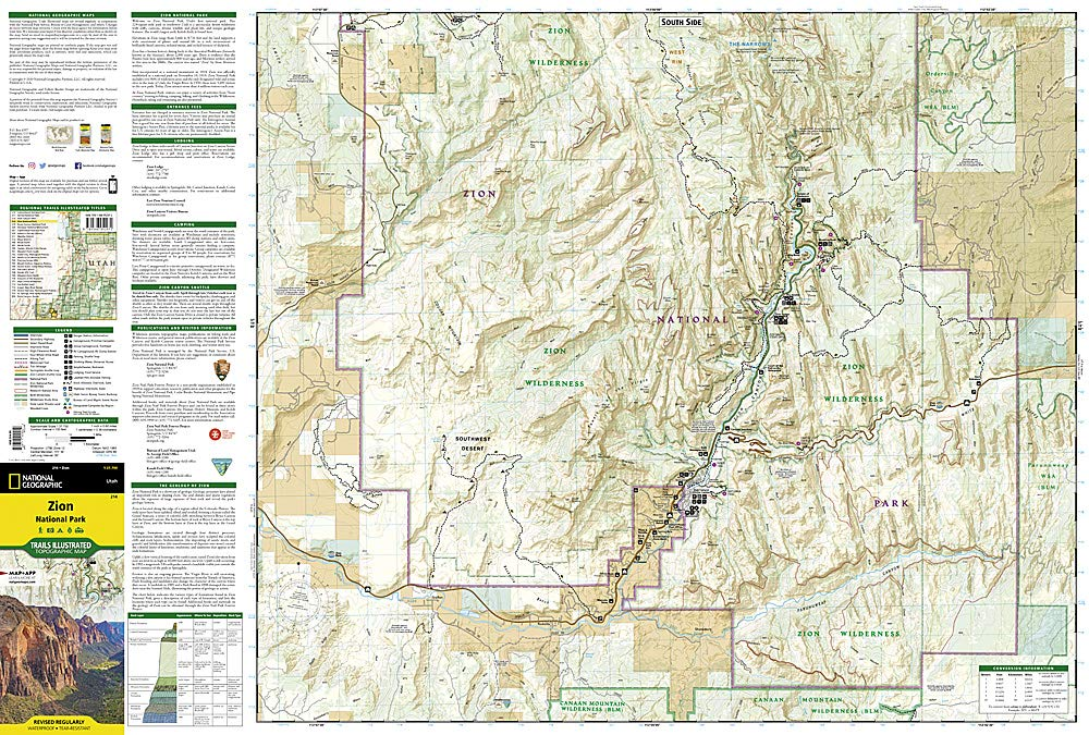 Zion National Park (National Geographic Trails Illustrated Map ... on mojave national preserve topo map, bryce and zion arches national park map, capitol reef topo map, zion national park on a usa map, glacier national park trail map, santa barbara topo map, four corners topo map, white river national forest topo map, albuquerque topo map, havasu falls topo map, dinosaur national monument topo map, mt zion national park map, kaibab plateau topo map, ashley national forest topo map, canyonlands topo map, mount st helens topo map, inyo national forest topo map, rocky mountain national park topographic map, sequoia national park topo map, red rock canyon topo map,