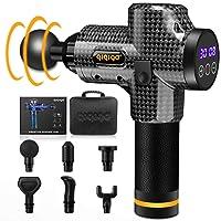 QIQIGO Massage Gun 30 Speed Level Cordless Deep Tissue Percussion Portable Handheld...