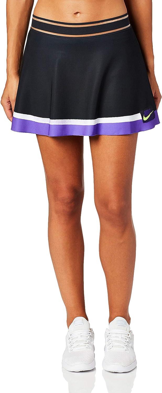 NIKE W Nkct Slam Skirt NY Falda, Mujer, Off Noir/Court Purple ...