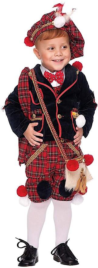 4a35ba79d71f Costume di Carnevale da Scozzese Neonato Vestito per Neonato Bambino 0-3  Anni Travestimento Veneziano
