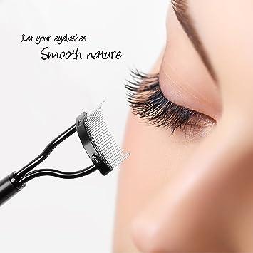 c04a67ef179 Amazon.com : Docolor Eyelash Comb Curlers Makeup Mascara Applicator Eyebrow  Grooming Brush Tool : Beauty