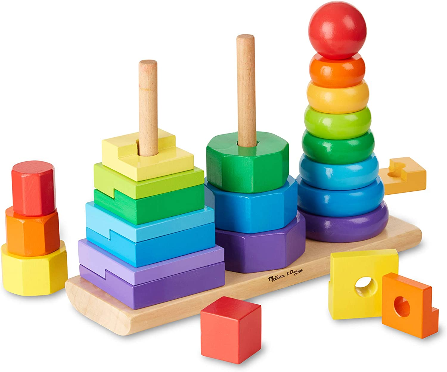 Melissa /& Doug Brand New Rainbow Stacker