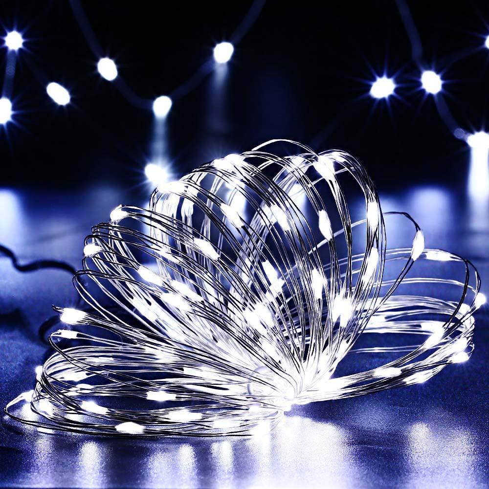 IP65 Wasserdicht Kupferdraht Lichterketten f/ür Garten Weihnachten Hochzeit Party 8 Modi Leuchtende Solar Lichterkette Drau/ßen Mehrfarbig NEXVIN 10m 100 LED Solar Lichterkette Aussen