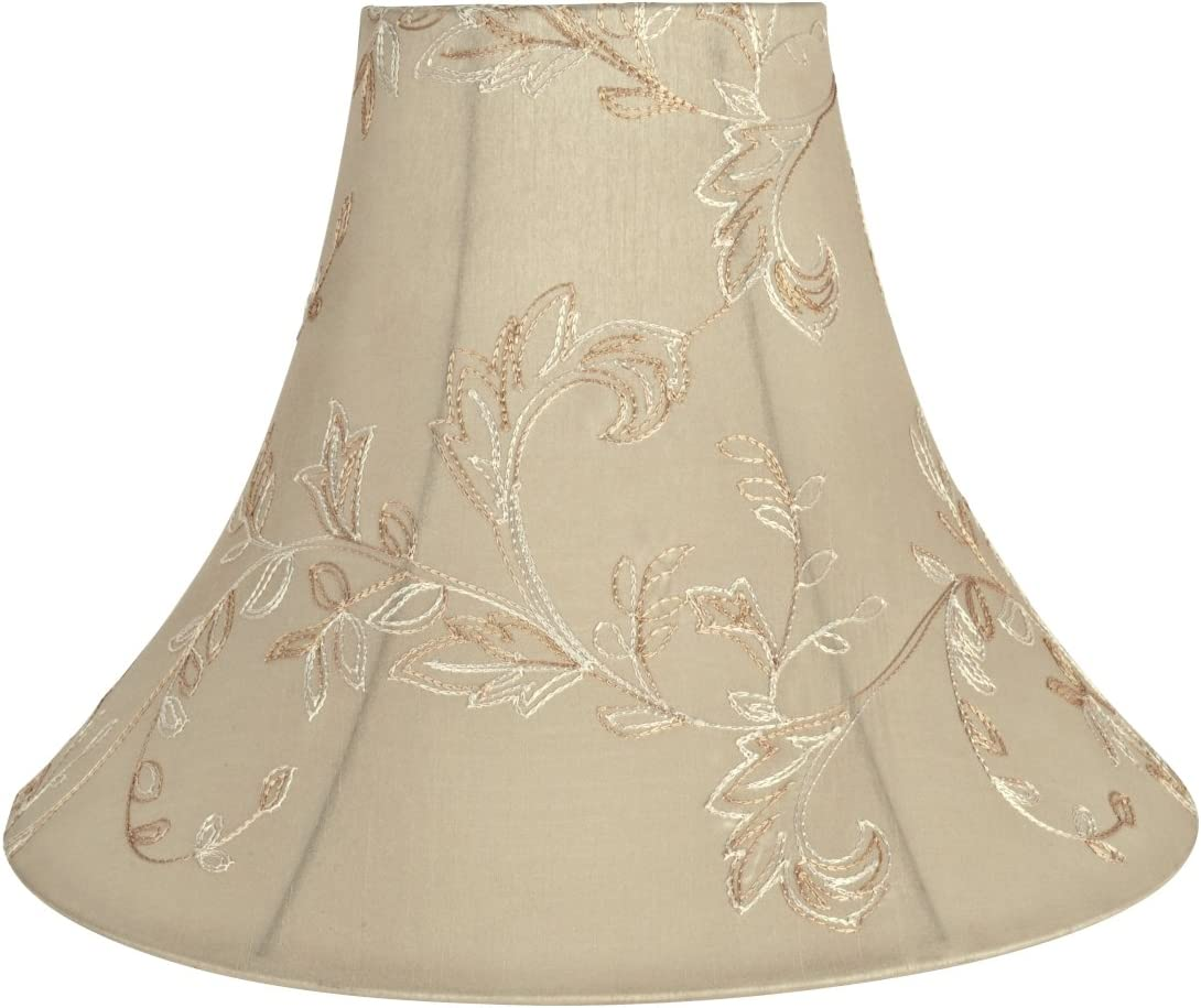 Aspen Creative Apricot, 30085 Transitional Bell Shape Spider Construction Lamp Shade, 16 Wide 6 x 16 x 12
