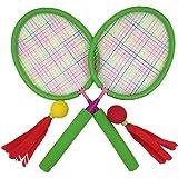 (アワンキー) Aoneky バドミントン ラケット セット スポンジ ハンドル 子供用 おもちゃ スポーツトイ 贈り物 安全安心
