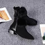 FORUU Women Fluffy Faux Fur Shoes Martain Boots