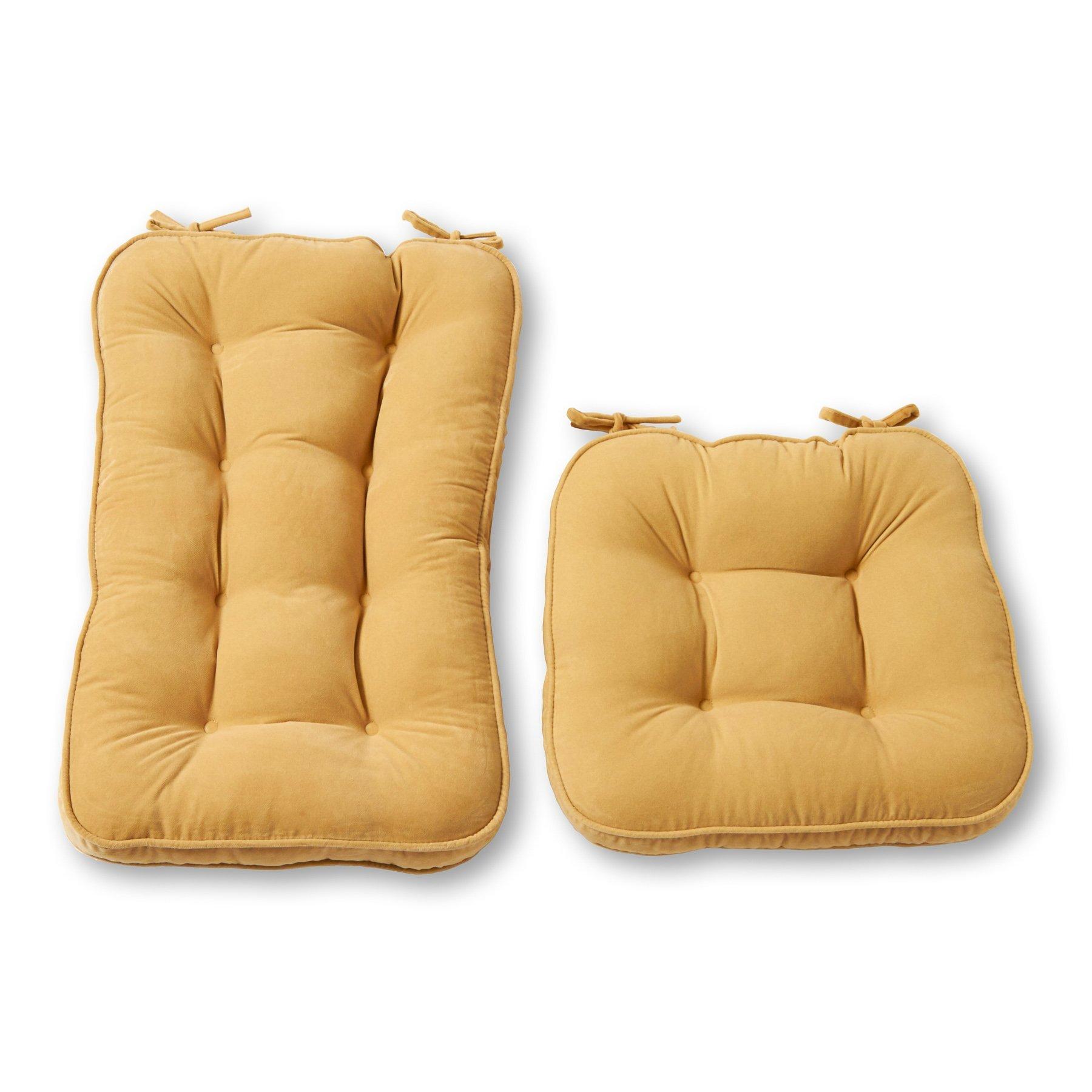 Greendale Home Fashions Jumbo Rocking Chair Cushion Set Hyatt fabric, Cream by Greendale Home Fashions (Image #1)