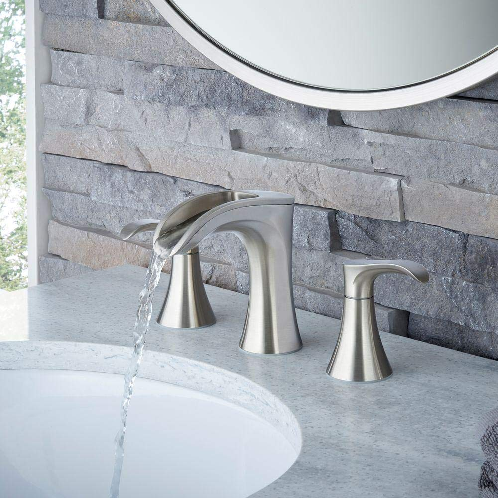 Brea 4 in Centerset Single-Handle Bathroom Faucet in Brushed Nickel by  Pfister