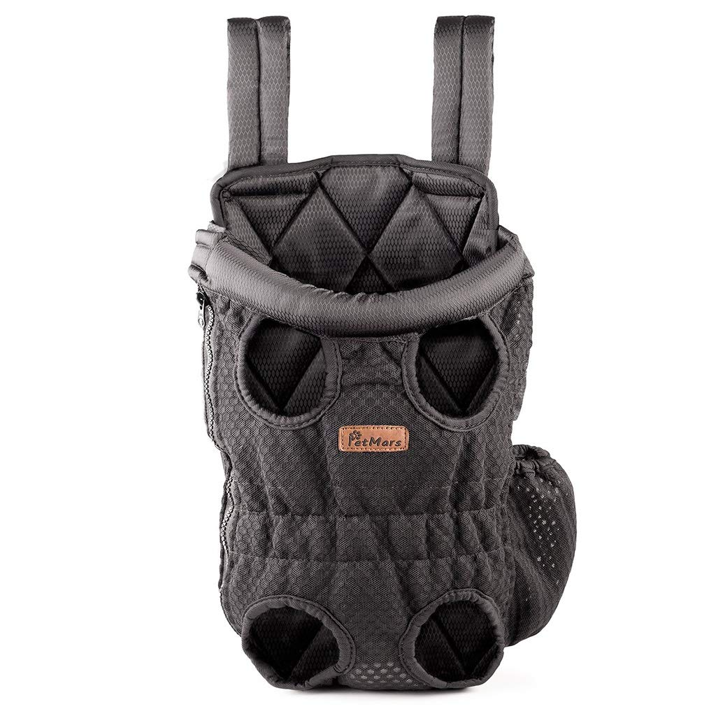 L Pet Carrying Bag, Front and Back Facing, for Small Medium and Large Sized Breeds, Comfortable Back and Shoulder Padding Black (Size   L)
