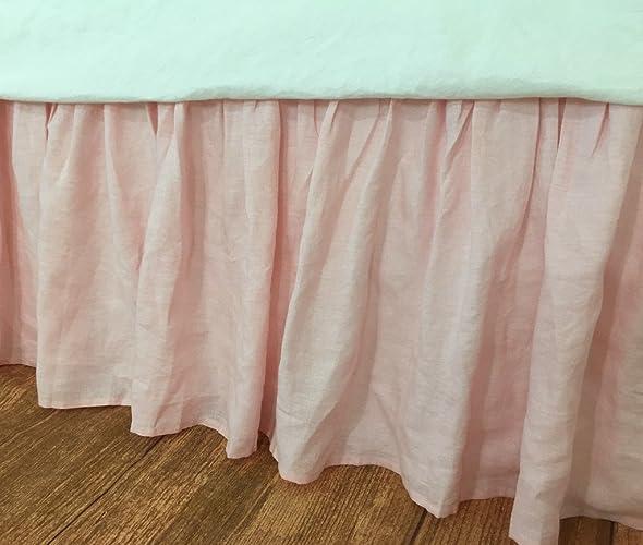 Pink Bed Skirt Queen.Amazon Com Ballet Slipper Pink Bedskirt Pink Linen Bed
