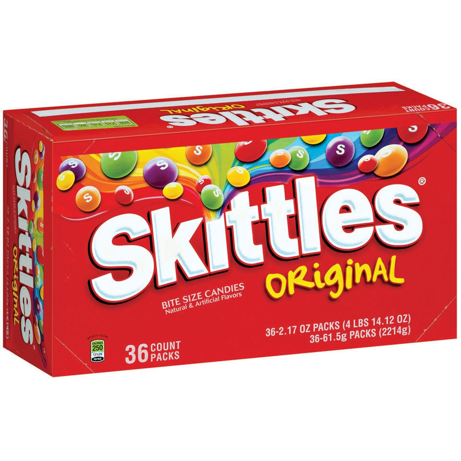 Skittles Original Candy, 2.17 Oz, Pack of 36