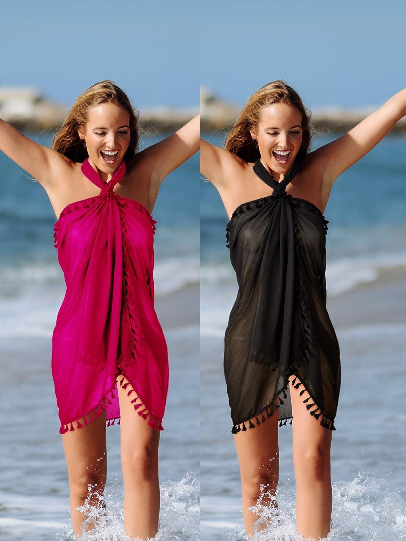 Donna Spiaggia Vacanza Abiti Wrap Sarong Coprire Costumi da bagno Beachwear