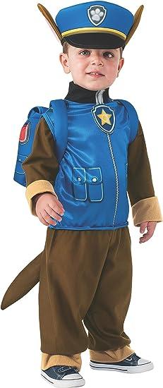 Rubies 610502-T Patrulla Canina Disfraz Chase para niño, talla 2-4 ...