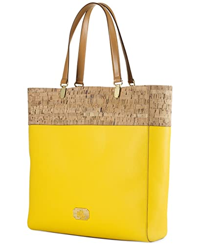 1861010c6a ... store lauren ralph lauren cork patterned tote bag yellow ca364 c2e8f