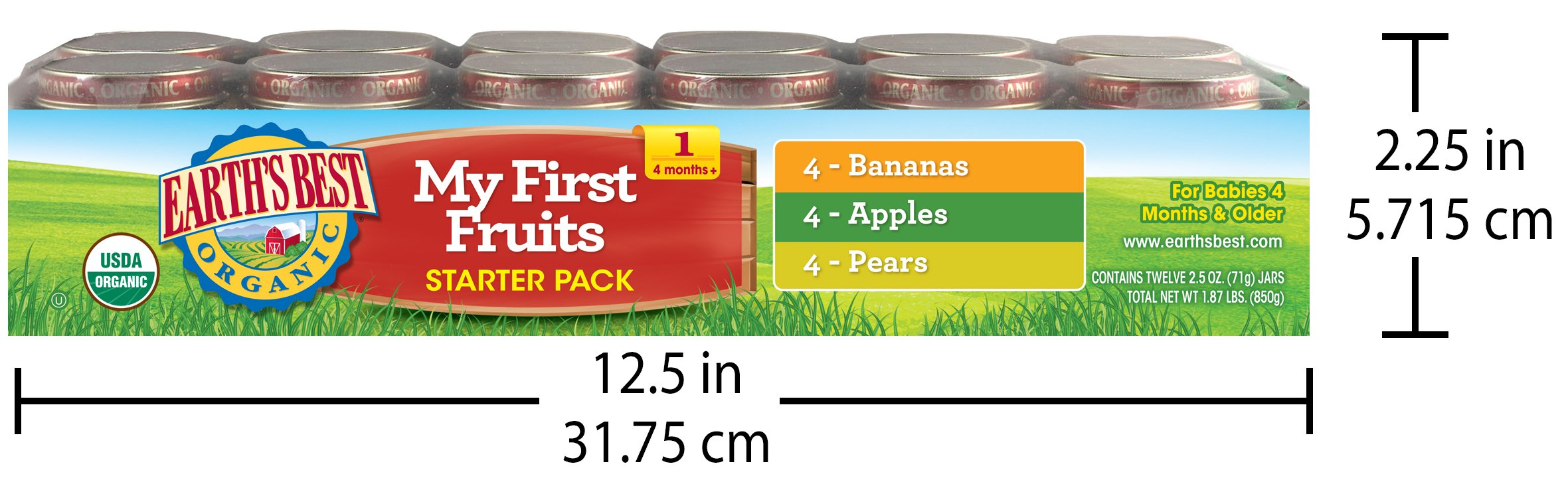 Earth's Best Organic First Fruit Baby Food Starter Kit, 12 Jars by Earth's Best (Image #7)