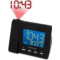 Magnasonic Projection Alarm Clock with AM/FM Radio, Battery Backup, Auto Time Set, Dual Alarm & 3.5mm Audio Input…