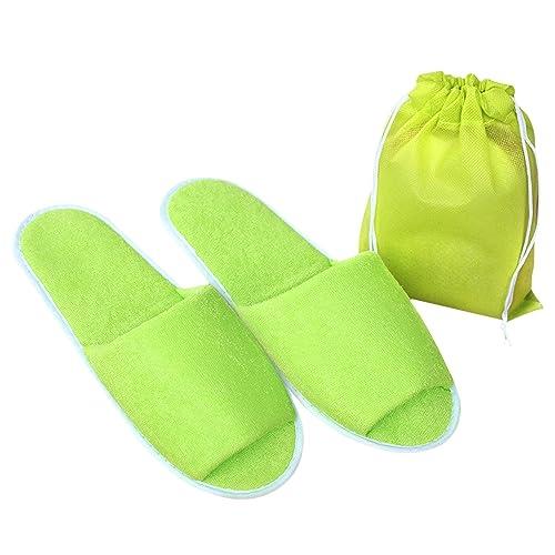 10 Pares Zapatillas desechables para Spa viaje hotel Zapatillas de invitado de casa SODIAL R