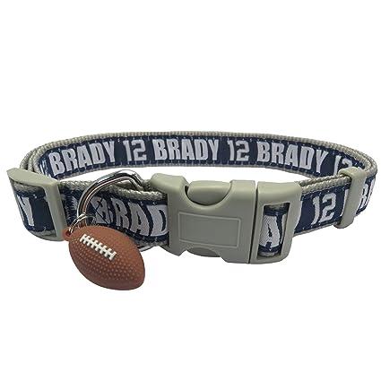 NFLPA Dog Collar - Tom Brady  12 Pet Collar - NFL New England Patriots  Adjustable 27a9e967e