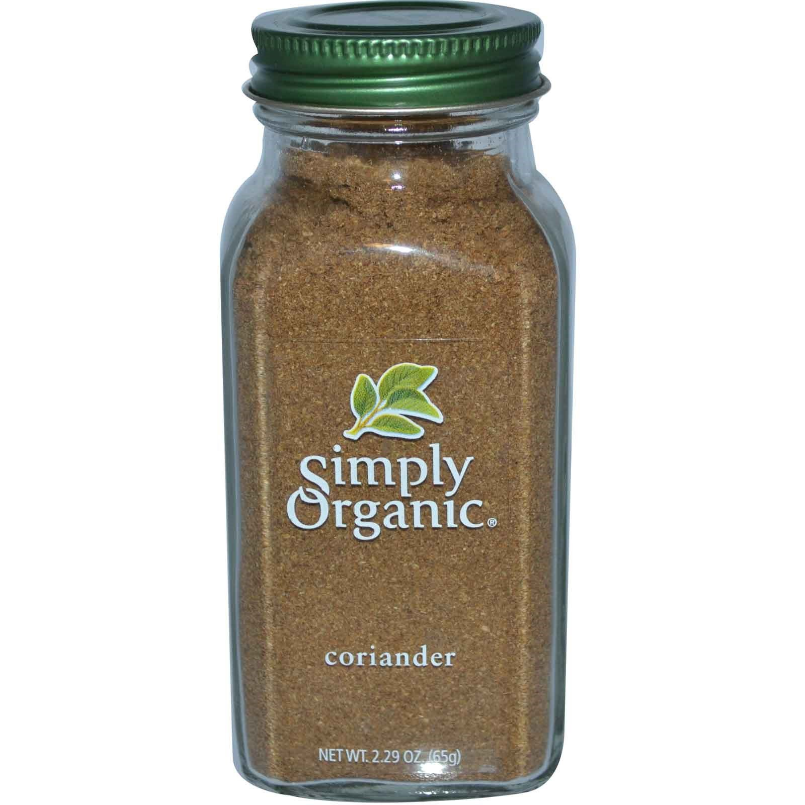 Simply Organic, Coriander, 2.29 oz (65 g) - 2 Bottles