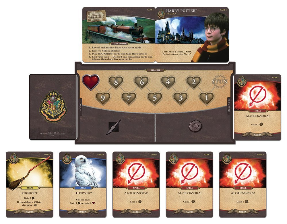 Harry Potter Hogwarts Battle Cooperative Deck Building Card Game | Official Harry Potter Licensed Merchandise | Harry Potter Board Game | Great Gift ...
