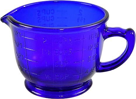 Amazon Com Home X Cobalt Blue Measuring Cup Vintage Kitchen Accessories 16oz 6 L X 4 3 4 W X 3 1 2 H Kitchen Dining