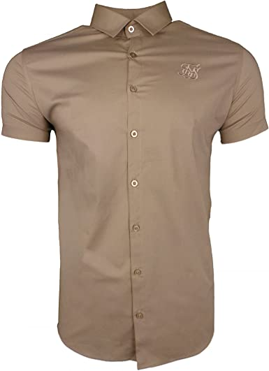 Camisa Manga Corta Siksilk S/s Standard Stretch Cotton Beige ...