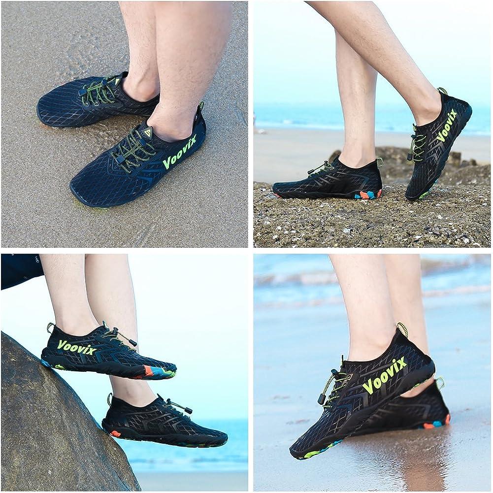 Voovix Badeschuhe Herren Wasserschuhe Aquaschuhe Strandschuhe Schwimmschuhe Schnell Trocknend Surfschuhe Yoga Strand f/ür Damen