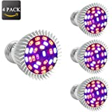 Esbaybulbs [Pack of 4] Full Spectrum 28W E26 LED Grow Light Bulb, Grow Plant Light for Hydropoics Greenhouse Organic Indoor Plants
