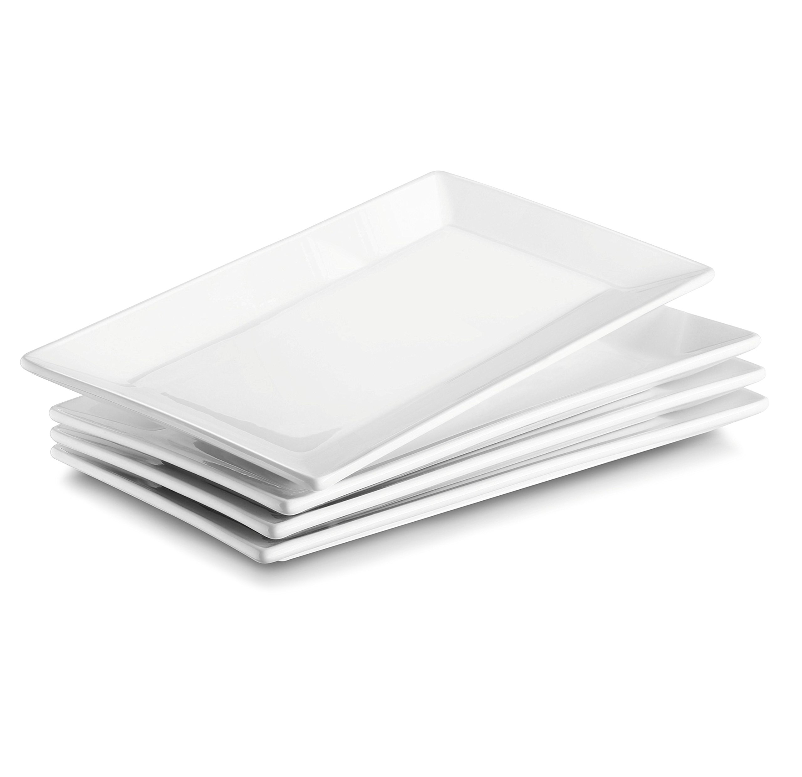 DOWAN 9.7-Inch Porcelain Serving Platters/Plates - Set of 4