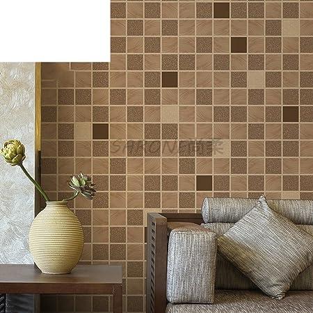Mosaic Wall Waterproofing Rub Resistant Plaid Wallpaper Johor