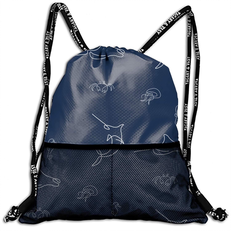 Unicorn Horse Cartoon Design Drawstring Backpack String Bag Nice Gift For Boyfriend//Girlfriend