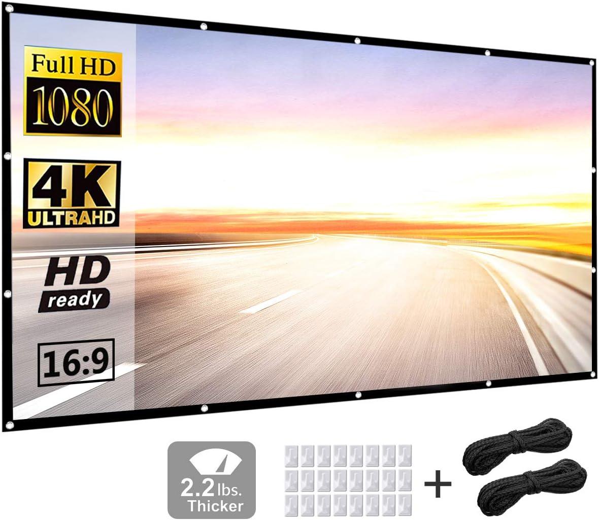 pantalla proyector 120 pulgadas 16:9 HD portatil P-JING